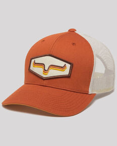 Kimes Ranch Orange Rhythm Patch Mesh Trucker Cap , Orange, hi-res