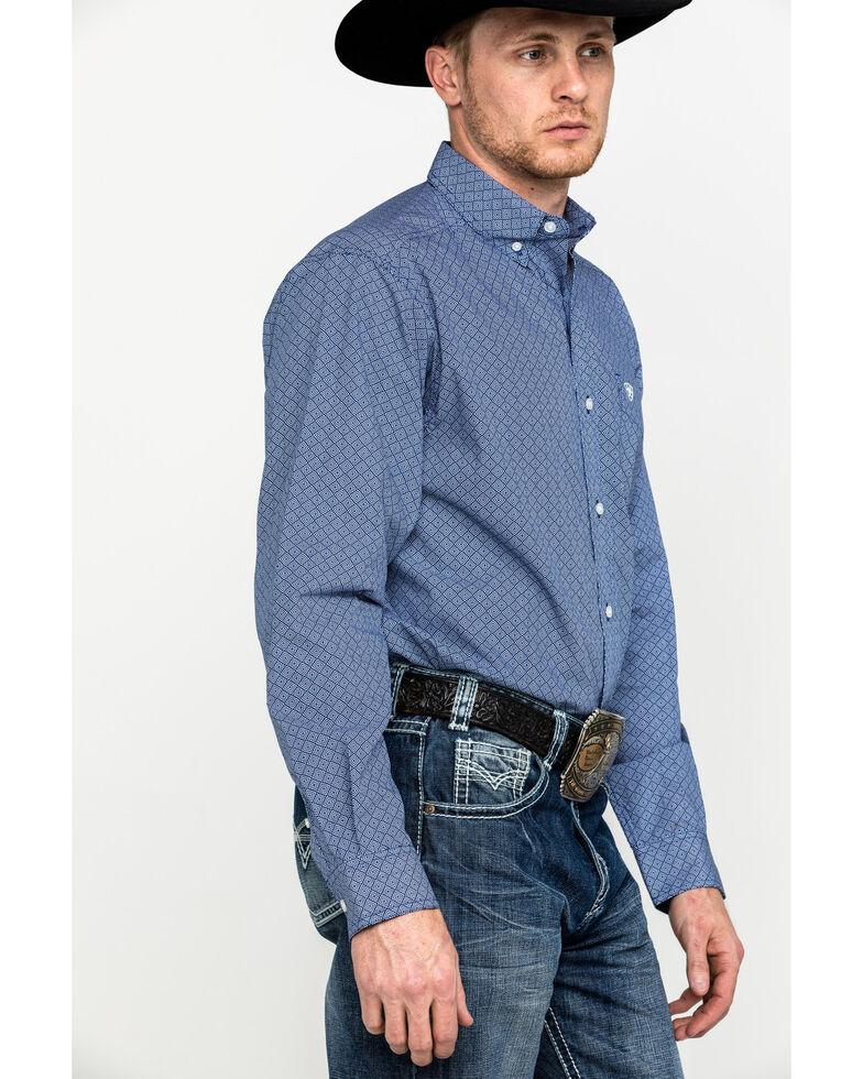 Ariat Men's Ramos Print Long Sleeve Shirt - Tall, Blue, hi-res