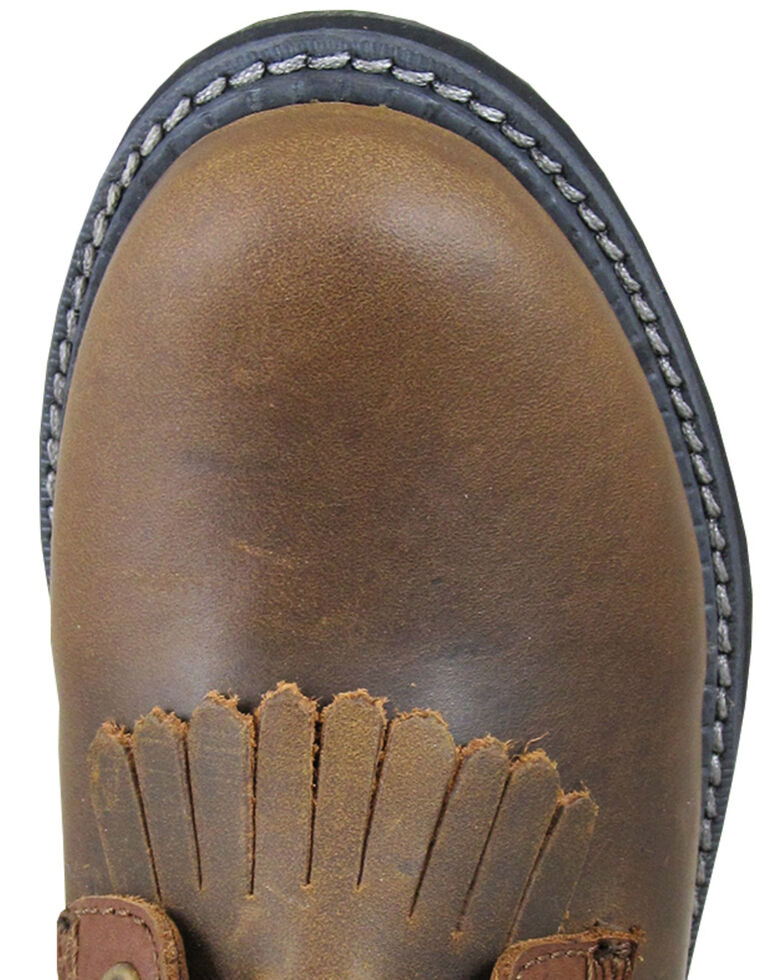 Smoky Mountain Boys' Panther Lace-Up Leather Boots - Round Toe, Brown, hi-res