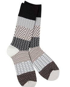 World's Softest Women's Weekend Gallery Crew Socks, Black, hi-res
