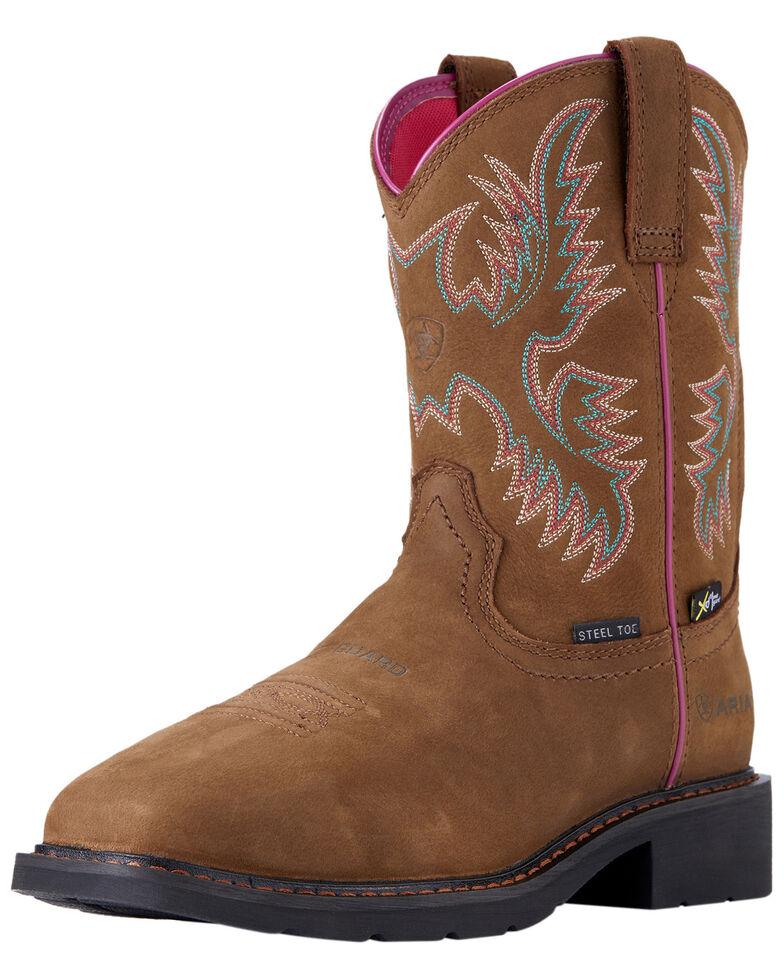 Ariat Women's Krista Metguard Western Work Boots - Steel Toe, Brown, hi-res