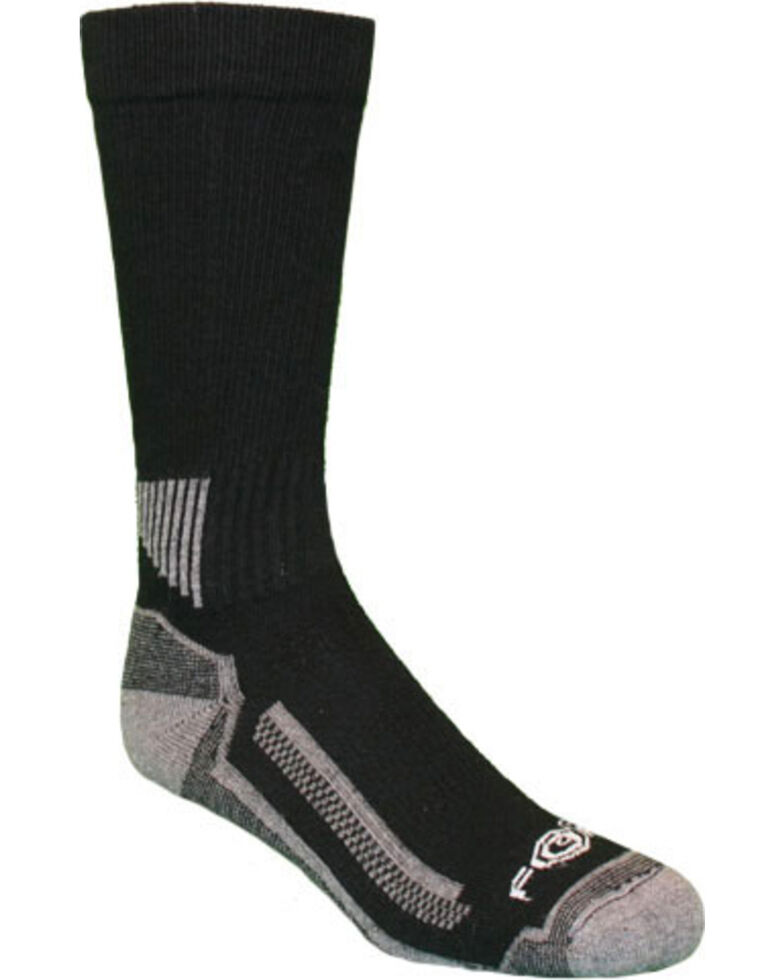 Carhartt Force® Black Performance Work Crew Socks - 3 Pack, Black, hi-res
