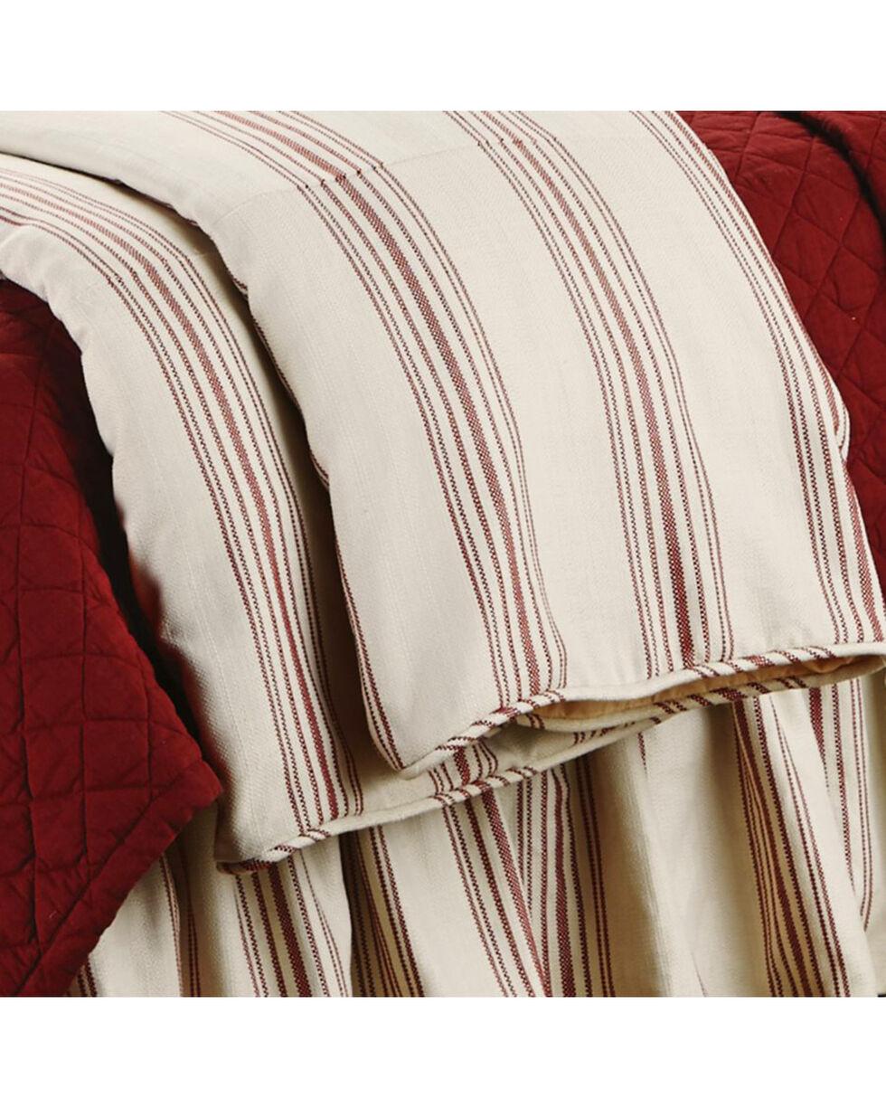 HiEnd Accents Prescott Striped Super Queen Size Duvet, Red, hi-res