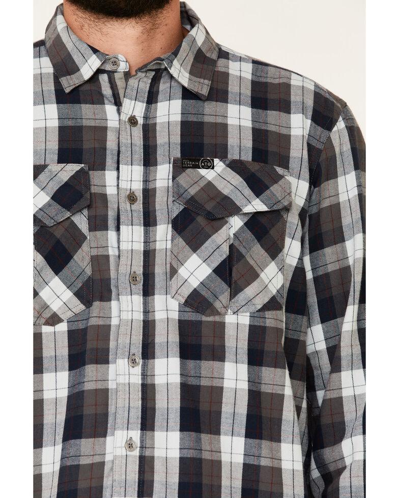 ATG™ by Wrangler Men's All Terrain Cabernet Plaid Long Sleeve Western Flannel Shirt , Red, hi-res