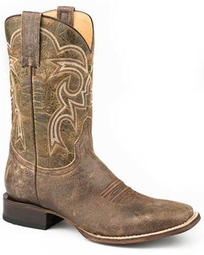Roper Men's Parker Brown Western Boots - Square Toe, Brown, hi-res