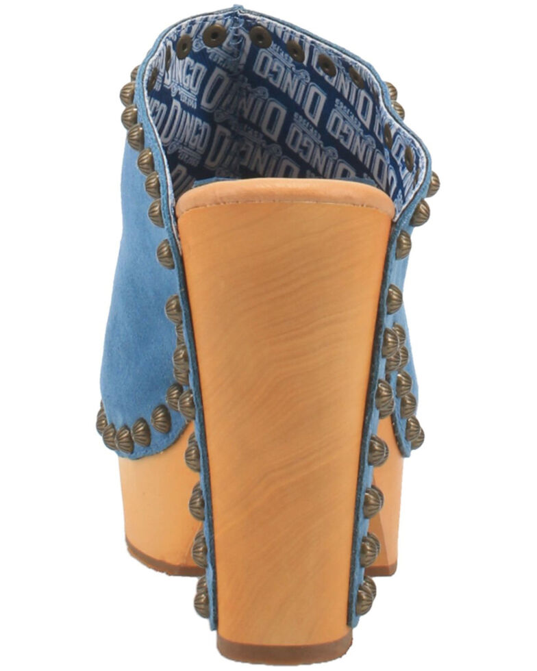 Dingo Women's Peace N' Love Fashion Booties - Round Toe, Blue, hi-res