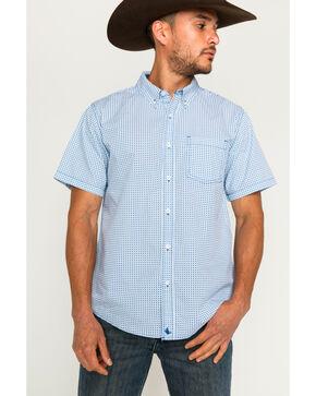 Cody James Men's Terrain Royal Short Sleeve Button Down Shirt, Royal Blue, hi-res