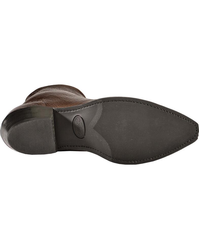 Abilene Western Wingtip Zipper Boots - Snip Toe, Chocolate, hi-res