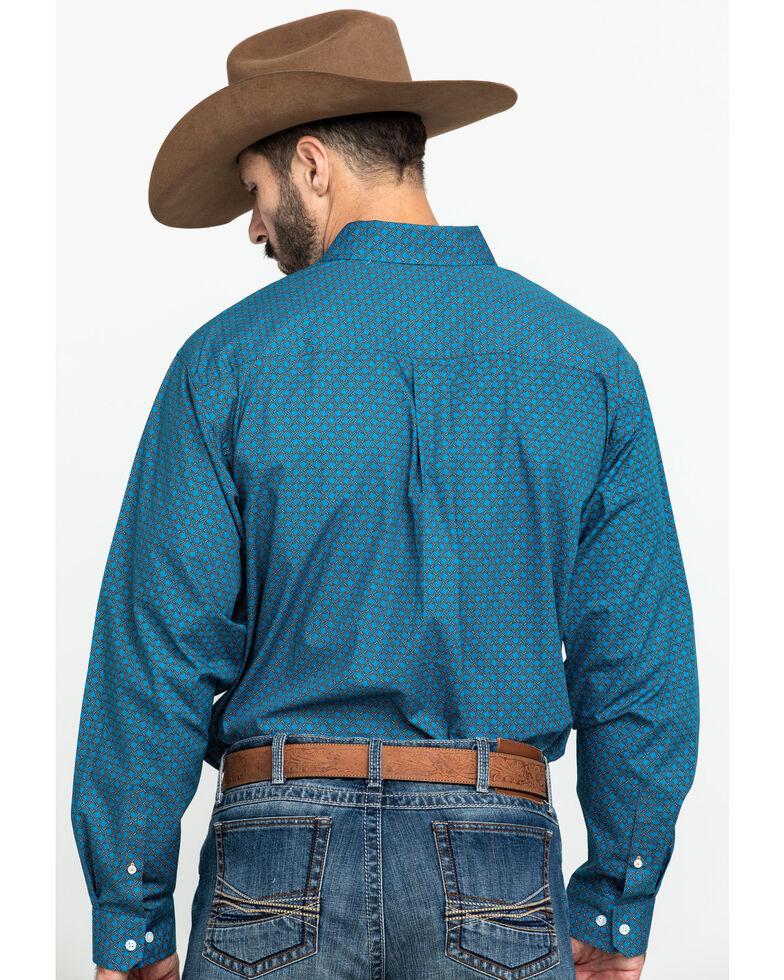 Cinch Men's Turquoise Geo Print Plain Weave Long Sleeve Western Shirt , Turquoise, hi-res