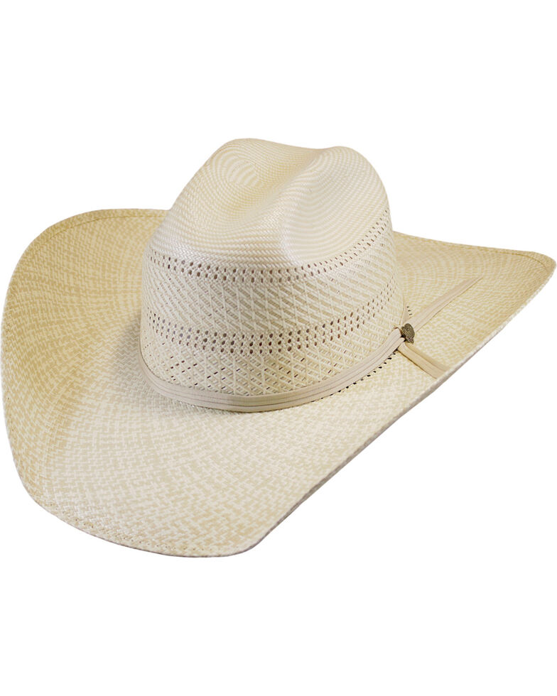 b123fd059f4 Justin Men s Ivory Bent Rail Banks Straw Cowboy Hat - Country Outfitter