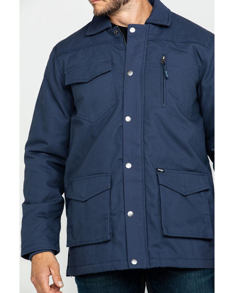 Wrangler Men's Navy Ripstop Quilted Barn Coat , Navy, hi-res