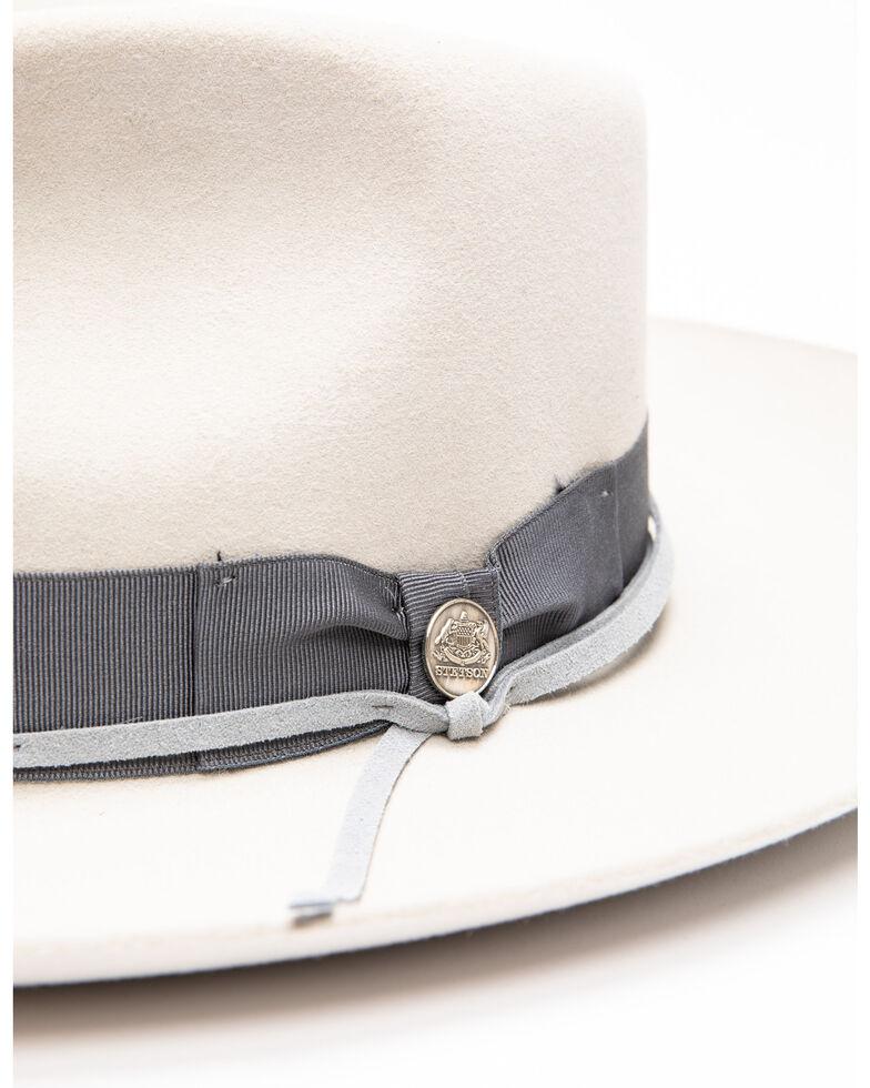 Stetson Men's Wynwood Soft Felt Fedora , Light Grey, hi-res