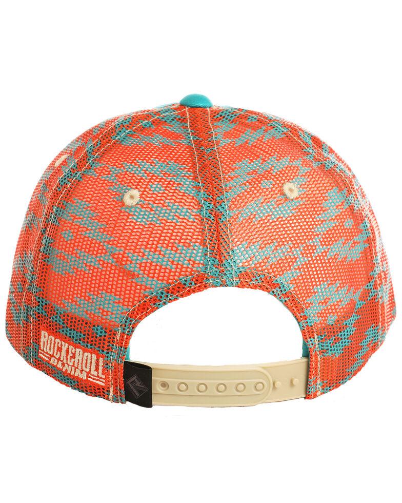 Dale Brisby Men's Teal Aztec Printed Cap , Teal, hi-res
