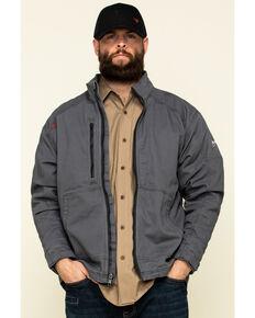 Ariat Men's Iron Grey FR Duralight Stretch Canvas Field Work Jacket - Big , Steel, hi-res