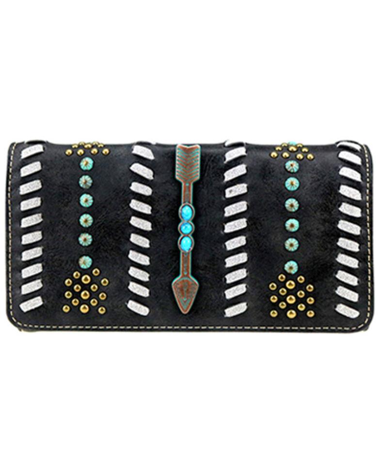 Montana West Women's Black Arrow Wallet, Black, hi-res