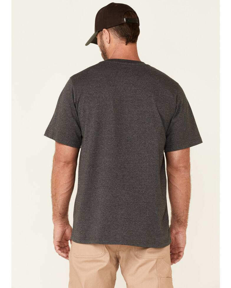 Hawx Men's Solid Charcoal Forge Short Sleeve Work Pocket T-Shirt , Charcoal, hi-res