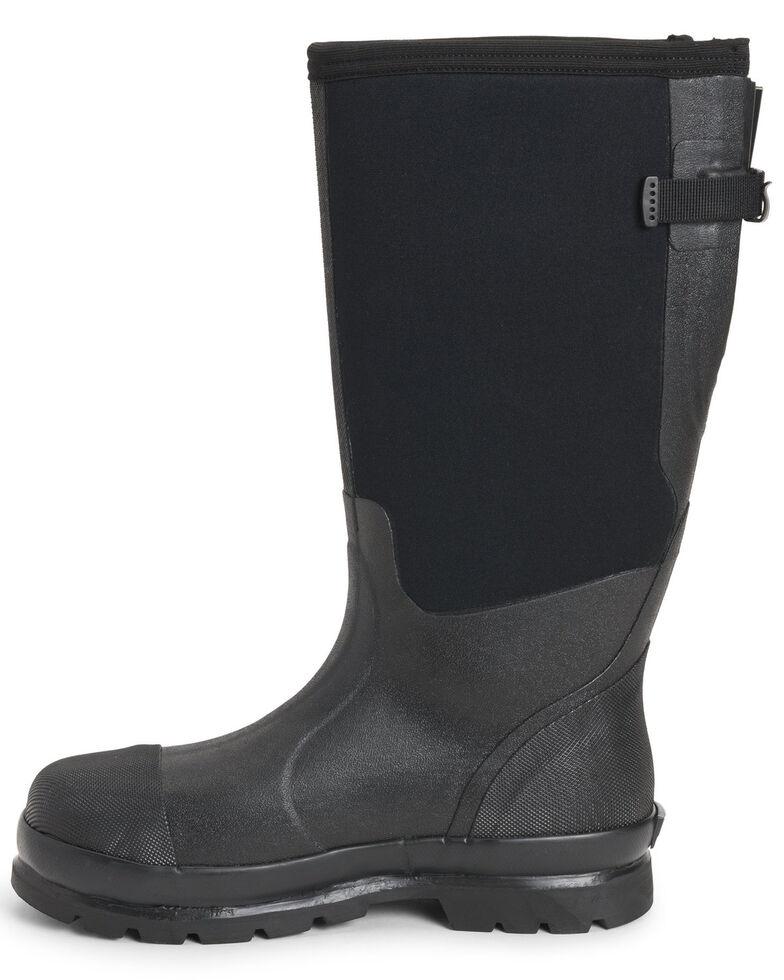 Muck Boots Men's Chore Rubber Boots - Steel Toe, Black, hi-res