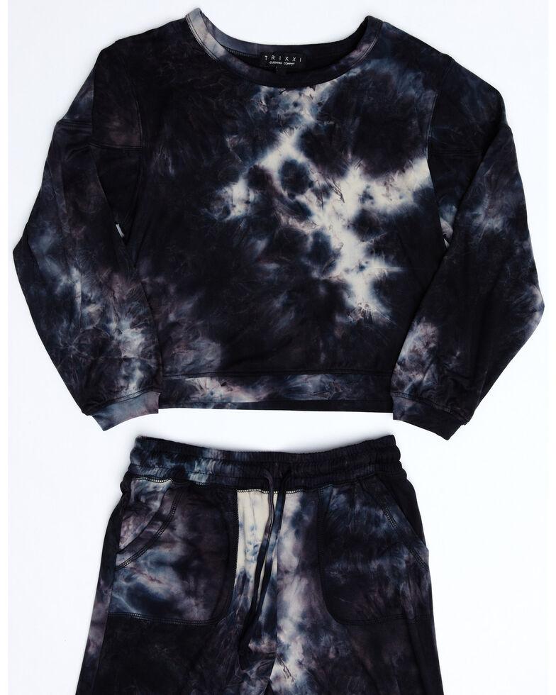 Trixxi Girl's Navy Tie-Dye Sleep Set, Navy, hi-res