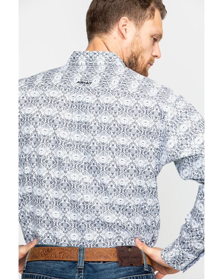 Ariat Men's Frasier Aztec Long Sleeve Western Shirt, White, hi-res