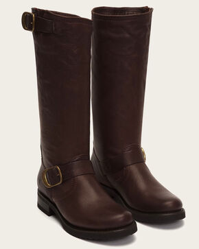 Frye Women's Dark Brown Veronica Slouch 2 Boots - Round Toe , Dark Brown, hi-res