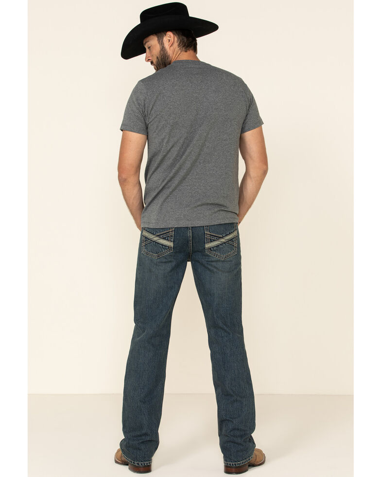 Cody James Men's Boone Medium Wash Stretch Slim Bootcut Jeans , Blue, hi-res