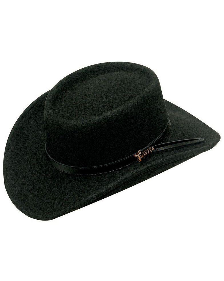 Twister Crushable Gambler Hat, Black, hi-res