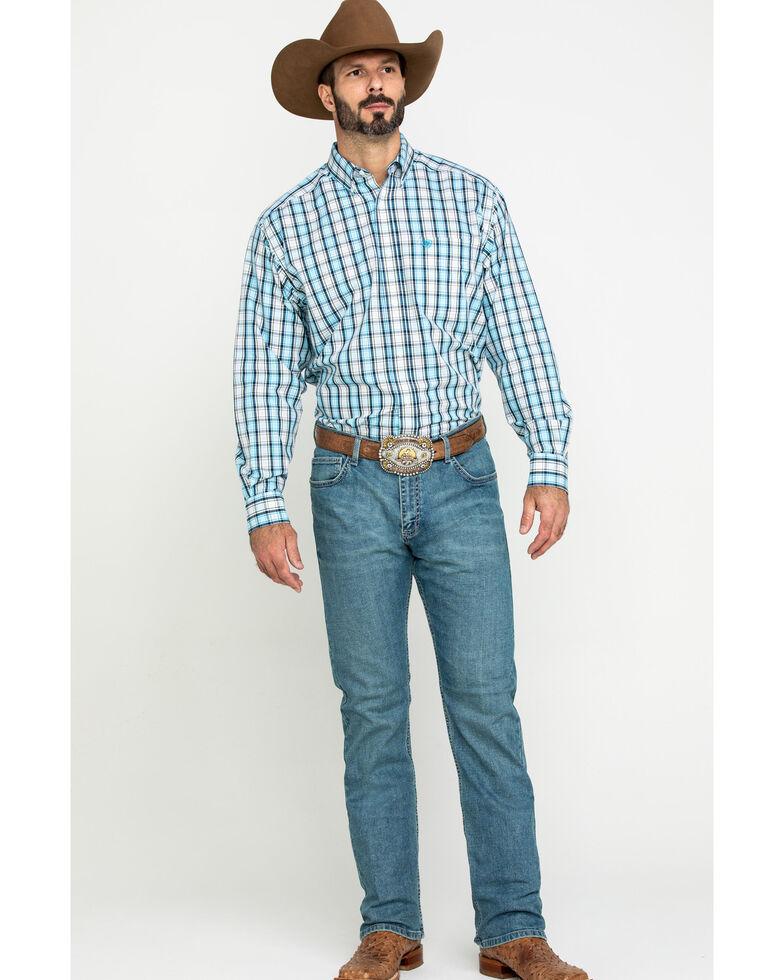 Ariat Men's Wrinkle Free Meadow Plaid Long Sleeve Western Shirt , Multi, hi-res