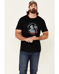 Moonshine Spirit Men's Smoking Roses Graphic Short Sleeve T-Shirt , Black, hi-res