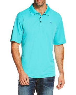 Ariat Men's Turquoise Tek Polo, Turquoise, hi-res