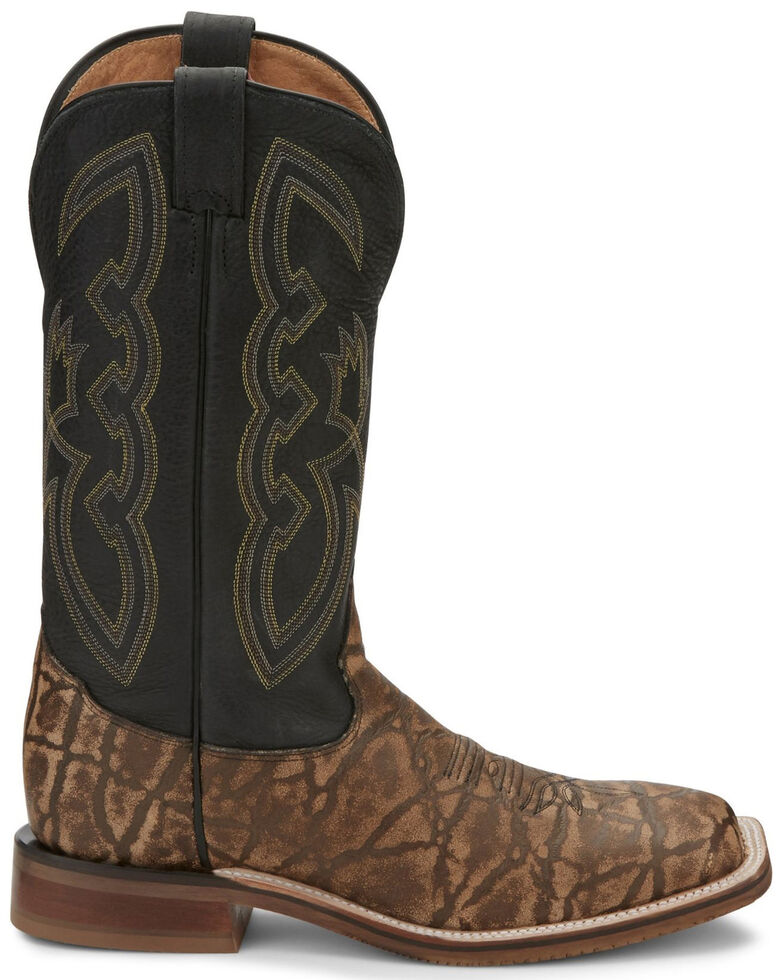 Tony Lama Men's Galan Taupe Western Boots - Wide Square Toe, Taupe, hi-res