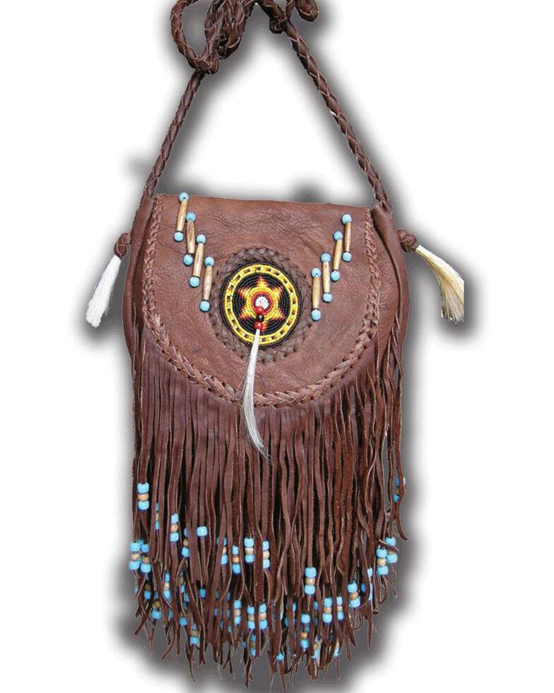 Kobler Leather Rossette Fringe Crossbody Bag, , hi-res