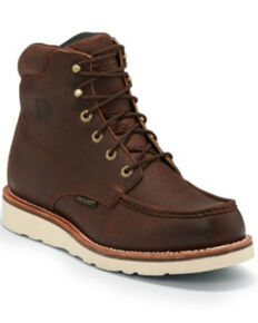 Chippewa Men's Edge Walker Waterproof Work Boots - Soft Toe, Brown, hi-res