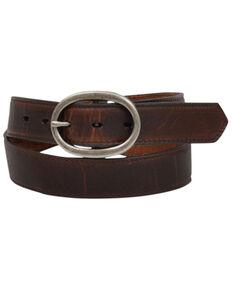 """Angel Ranch Women's 1 3/8"""" Solid Belt, Brown, hi-res"""