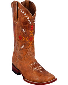 Ferrini Women's Autumn Brown Cowgirl Boots - Square Toe, Brown, hi-res