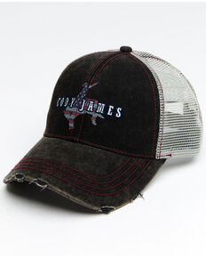 Cody James Men's Freedom Bronco Mesh Cap , Black, hi-res