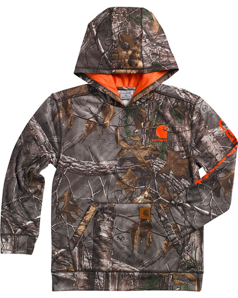 Carhartt Youth Boy's Realtree Camo Hoodie, , hi-res