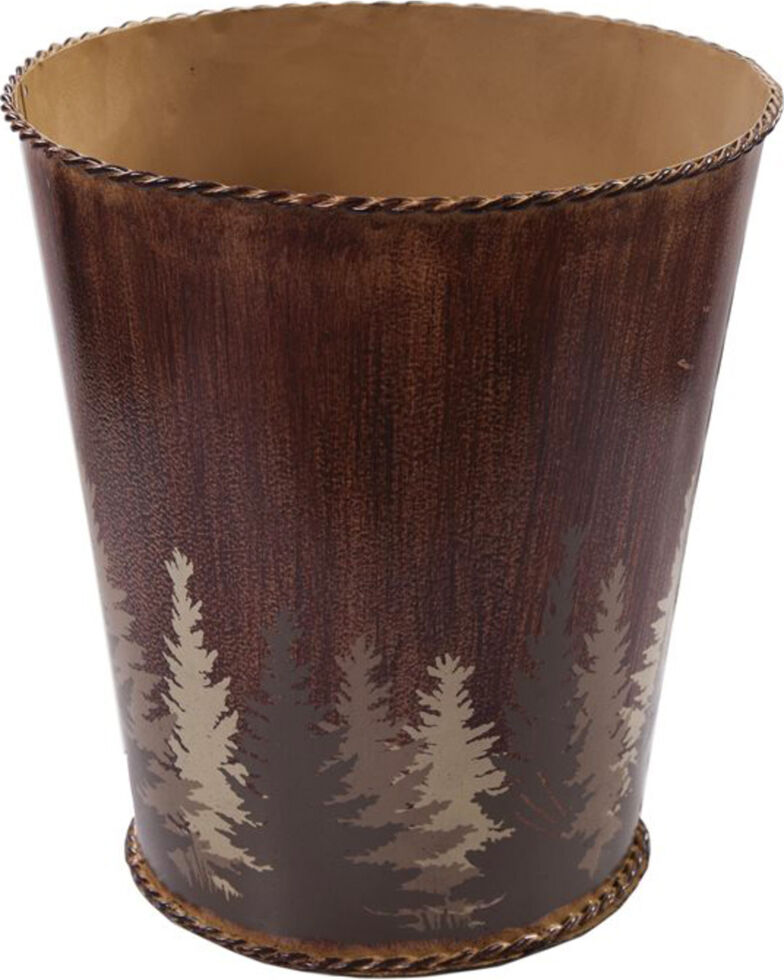 HiEnd Accents Clearwater Pines Waste Basket, Brown, hi-res