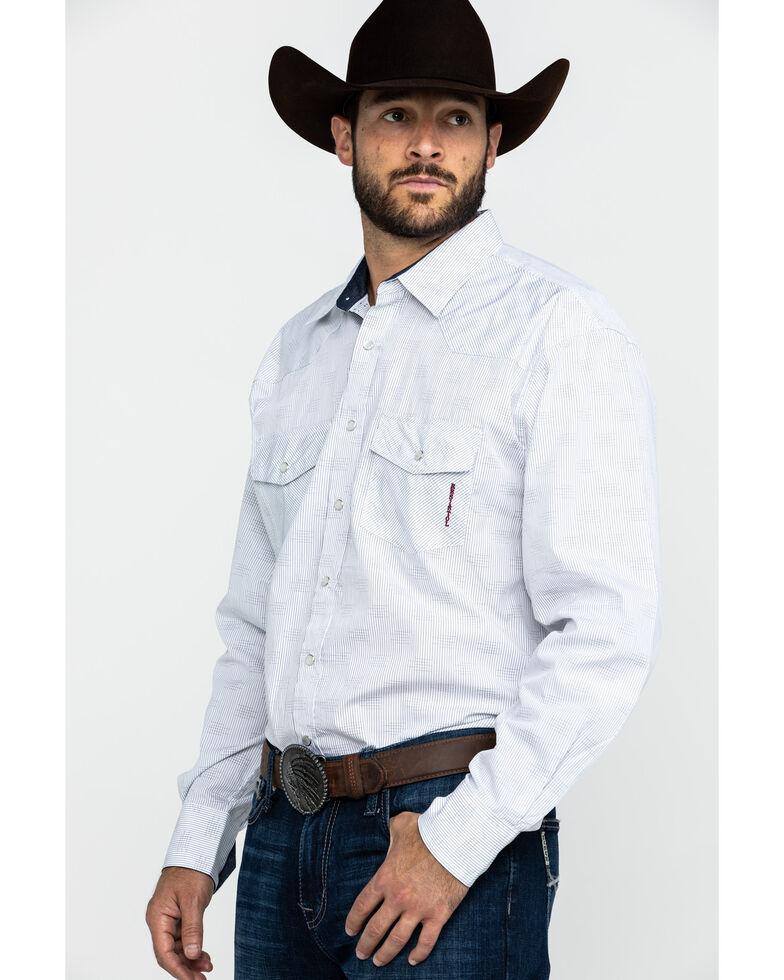 Resistol Men's Helm Solid Long Sleeve Western Shirt , White, hi-res