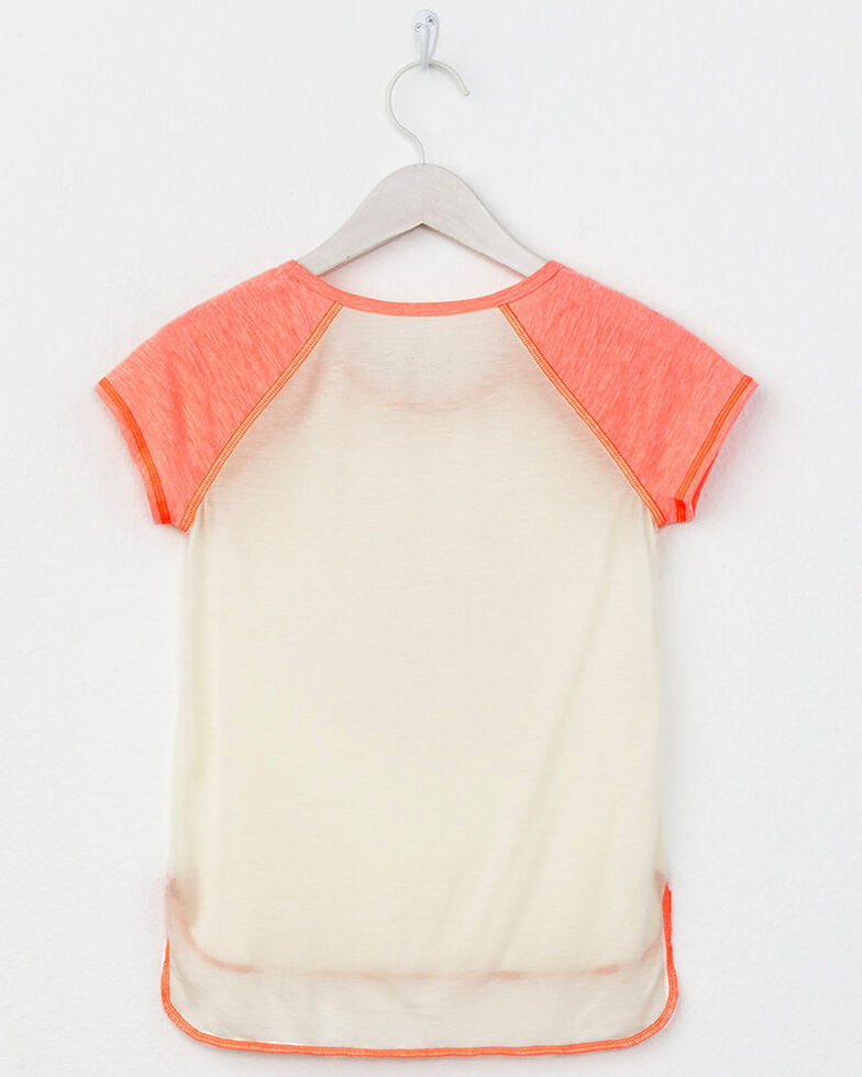 Miss Me Girls' Do You Miss Me Raglan Top, Coral, hi-res
