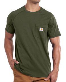 Carhartt Men's Force Cotton Short Sleeve Work T-Shirt , Moss, hi-res