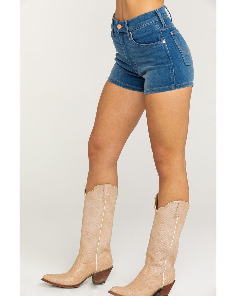 Wrangler Women's Heritage Hemmed Shorts, Medium Blue, hi-res