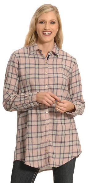 3J Workshop Women's Imogen Pleated Back Smock Shirt , Multi, hi-res