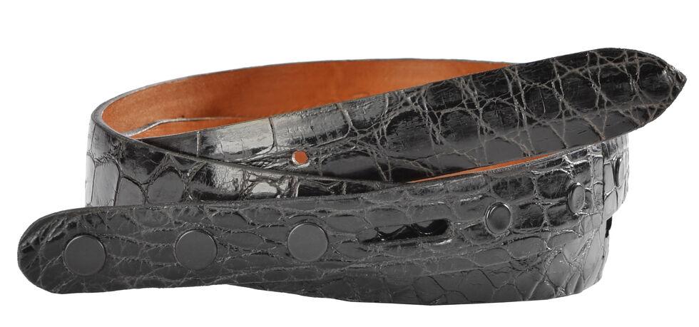 Lucchese Men's Black Alligator Leather Belt, Black, hi-res