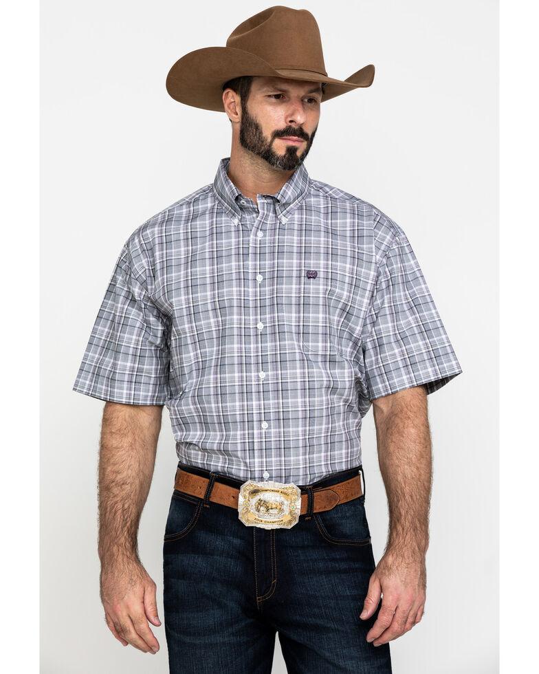 Cinch Men's Multi Med Plaid Plain Weave Short Sleeve Western Shirt , Multi, hi-res