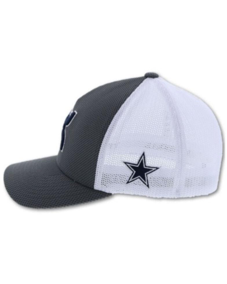 HOOey Men's Dallas Flex Fit Logo Patch Cap, Grey, hi-res