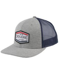 Cinch Men's Grey Logo Patch Trucker Cap , Purple, hi-res