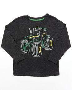 John Deere Toddler Boys' Black Tractor Outline Graphic Long Sleeve T-Shirt, Black, hi-res