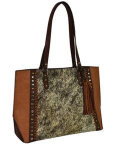 Tony Lama Women's Hair-On Tote Bag, Brown, hi-res