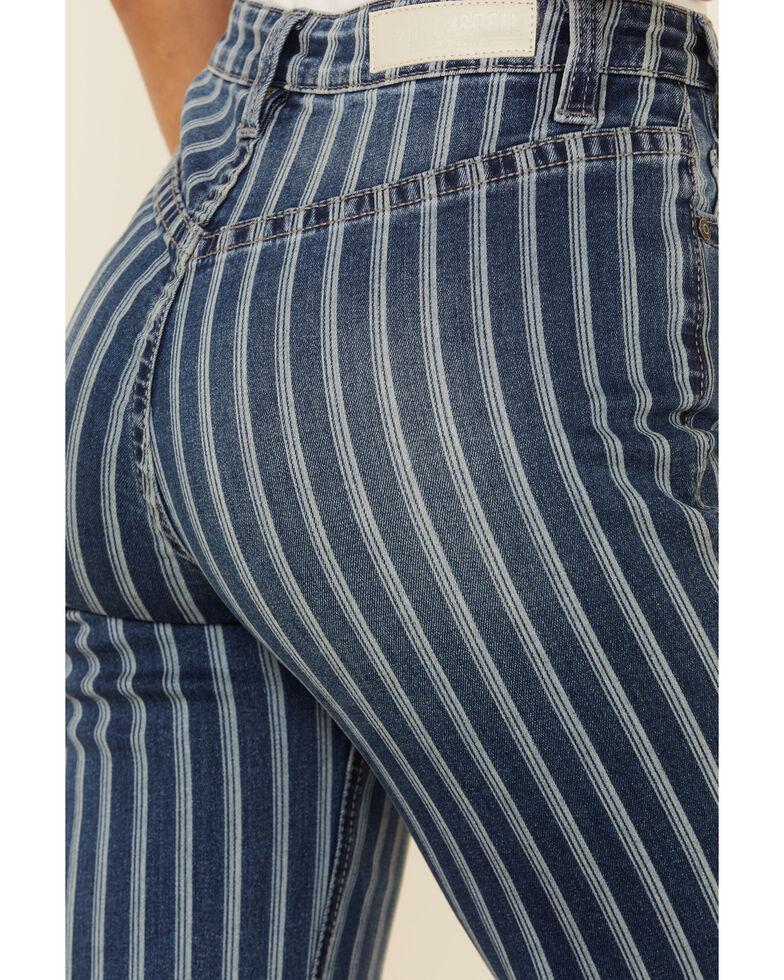 Panhandle Women's Striped Trouser Pants, Blue, hi-res