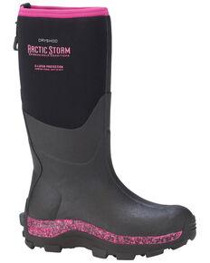 Dryshod Women's Pink Mid Arctic Storm Work Boots, Black, hi-res